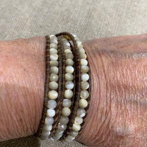 Chan Luu wrap bracelet. Don't know name of stone.